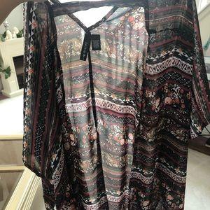Tops - Sheer boho kimono